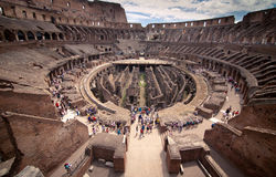 Binnen Colosseum Stock Afbeeldingen