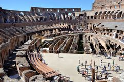 Binnen Colosseum van Rome royalty-vrije stock fotografie