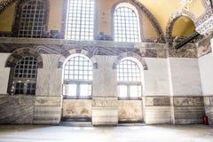 Binnen de bouw van St Sophia Cathedral in het museum royalty-vrije stock foto's