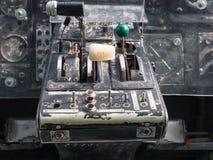 Binnen de cockpit van een uitstekende kleine jet Stock Afbeeldingen
