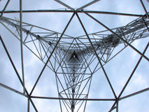 Binnen de Communicatie Toren Stock Foto