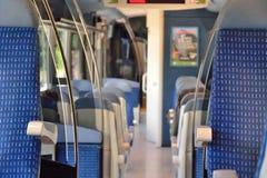Binnen de Franse lokale trein van A Royalty-vrije Stock Fotografie