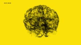 Binnen de Hersenen van Gele Neuronensysteem vector illustratie