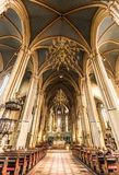 Binnen de Kathedraal van Veronderstelling Zagreb, Kroatië royalty-vrije stock fotografie
