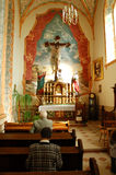 Binnen de kerk van John Paul II royalty-vrije stock foto