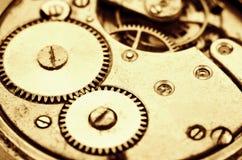 Binnen de klok (uurwerken) Royalty-vrije Stock Afbeeldingen