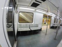 Binnen de metro royalty-vrije stock afbeelding