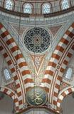 Binnen de moskee, Istanboel Royalty-vrije Stock Afbeelding