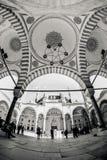 Binnen de muren van een traditionele Turkse Moskee Stock Foto