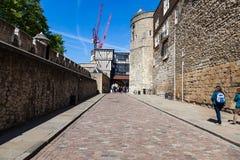 Binnen de muren van de Toren van Londen Royalty-vrije Stock Afbeelding