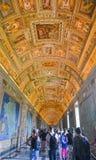 Binnen de Musea van Vatikaan stock foto