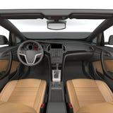 Binnen de Open tweepersoonsauto - Binnenland van een Convertibele Auto op een wit 3D Illustratie stock illustratie
