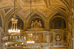 Binnen de Opera van Wenen stock foto's