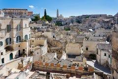 Binnen de oude stad van Matera Sassi di Matera, Europese Ca stock afbeelding
