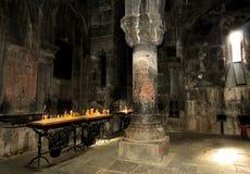 Binnen de oude tempel Royalty-vrije Stock Afbeeldingen