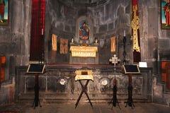 Binnen de oude tempel Stock Afbeeldingen