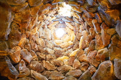 Binnen de oude toren stock afbeeldingen