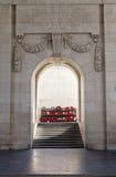 Binnen de Poort Menin in Ypres royalty-vrije stock fotografie
