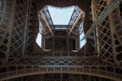 Binnen de toren van Eiffel Stock Afbeelding