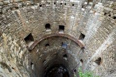 Binnen de toren van het Yedikule-Kasteel, Istanboel Royalty-vrije Stock Foto's