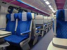 Binnen de trein Stock Foto