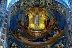 Binnen de Verlosser op het Gemorste Bloed, St. Petersburg de USSR royalty-vrije stock afbeeldingen