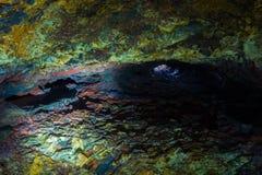Binnen de Vulkaan Stock Fotografie