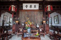 Binnen de Zaal van Joyous Feesten in Lion Grove Garden, Suzhou stock afbeeldingen