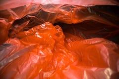 Binnen een beschikbare plastic zak Lichtgewicht transparant, opnieuw te gebruiken plastic afval Vuilniszak, plastic recycling, mi stock fotografie