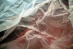 Binnen een beschikbare plastic zak Lichtgewicht transparant, opnieuw te gebruiken plastic afval Vuilniszak, plastic recycling, mi stock foto's