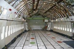 Binnen een Boeing 747 Royalty-vrije Stock Afbeeldingen