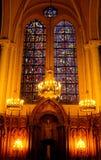 Binnen een Franse Kerk Royalty-vrije Stock Foto's