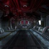 Binnen een futuristisch 3D scifiruimteschip royalty-vrije stock foto's
