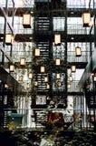 Binnen een hotel in Bankside, Londen stock foto's