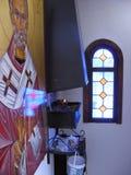 Binnen een kerk royalty-vrije stock afbeeldingen