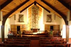 Binnen een kerk. Royalty-vrije Stock Fotografie
