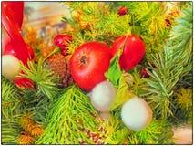 Binnen een Kerstmisdecoratie Stock Foto