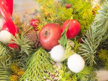 Binnen een Kerstmisdecoratie Royalty-vrije Stock Foto's