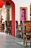 Binnen een Mexicaans restaurant Stock Foto