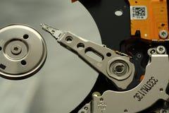 Binnen een open HDD stock afbeelding