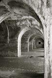 Binnen een oud fort Stock Afbeelding