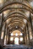 Binnen een roman tempel die oude geschiedenis heeft. Stock Afbeelding