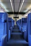 Binnen een trein royalty-vrije stock afbeeldingen