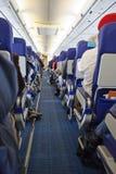 Binnen een vliegtuig Royalty-vrije Stock Foto's