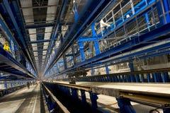 Binnen fabrieksgebied Stock Fotografie