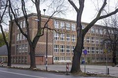 Binnen gebouwde huizen de jaren '20 en de jaren '30 van de 20ste eeuw in stad Warshau, Polen Stock Fotografie