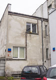Binnen gebouwde huizen de jaren '20 en de jaren '30 van de 20ste eeuw in stad Warshau, Polen Royalty-vrije Stock Foto's