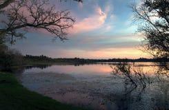 Binnen Geheim Meerpark bij zonsondergang in Casselberry Florida Royalty-vrije Stock Fotografie
