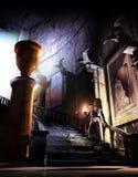 Binnen het achtervolgde kasteel vector illustratie