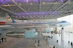 Binnen het Air Force One-Paviljoen in Ronald Reagan Presidential Library en Museum, Simi Valley, CA Stock Foto's